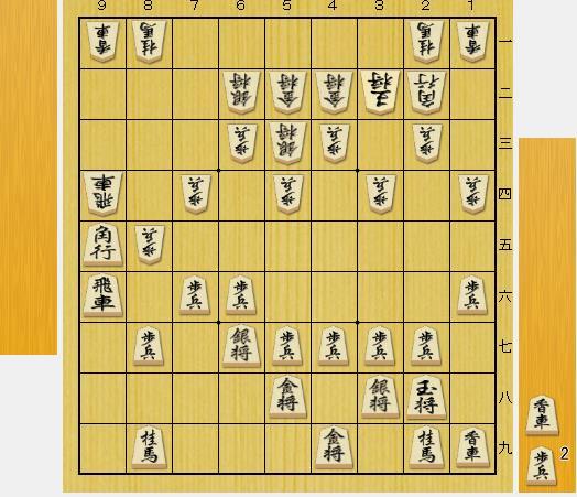 (問題図は前問の正解図から△9六歩、▲同飛、△9一香の局面です。)