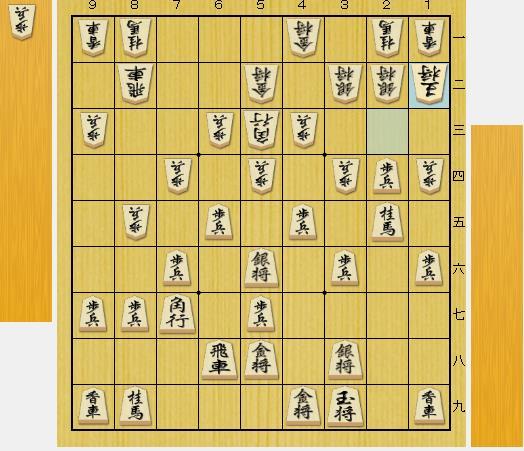 (前問正解図から△2五同歩、▲同桂、△2ニ銀、▲2四歩、△1ニ玉と進んだ局面)