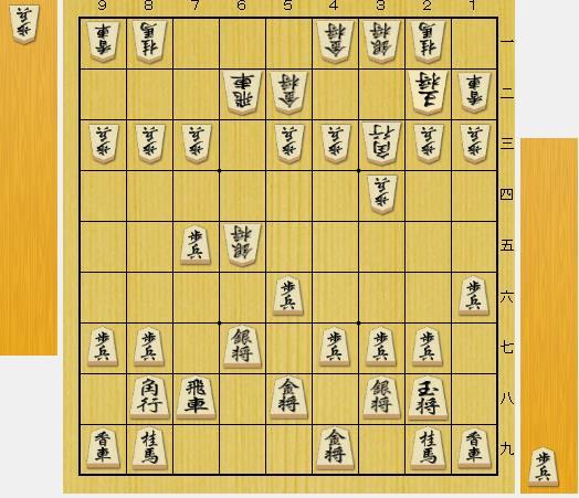 (前問の正解図から△6五歩、▲同歩、△同銀となった局面です。)