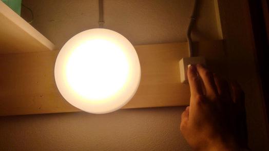 押入れの明かり
