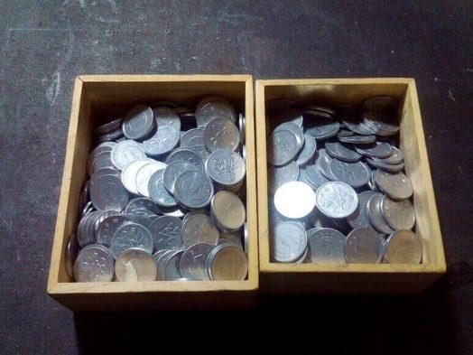 かめ男の小銭
