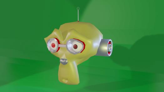 Blenderで作った猿の画像